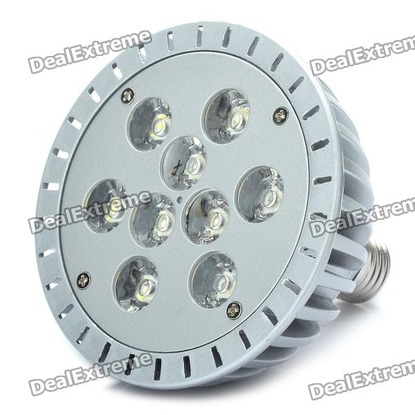 E27 9W 6000K 665LM White 9-LED Spot Light Bulb - Silver (89~265V) high quality 9w epistar led spot bulb e27 base par38 led light 900lm white ac85 265v ce