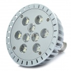 E27 9W 6000K 665LM White 9-LED Spot Light Bulb - Silver (89~265V)