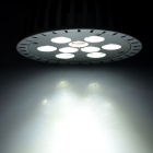 E27 9W 6000K 665LM Blanc 9-LED Spot Light - Argent (89 ~ 265V)