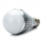 E27 5W 475LM 6000K White 5-LED Light Bulb - Silver (89~265V)