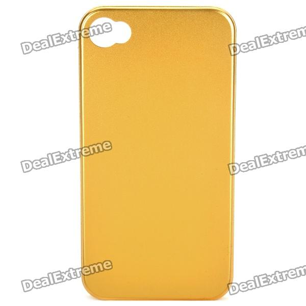 Stylish Protective Aluminum Back Case for Iphone 4S - Golden stylish bubble pattern protective silicone abs back case front frame case for iphone 4 4s