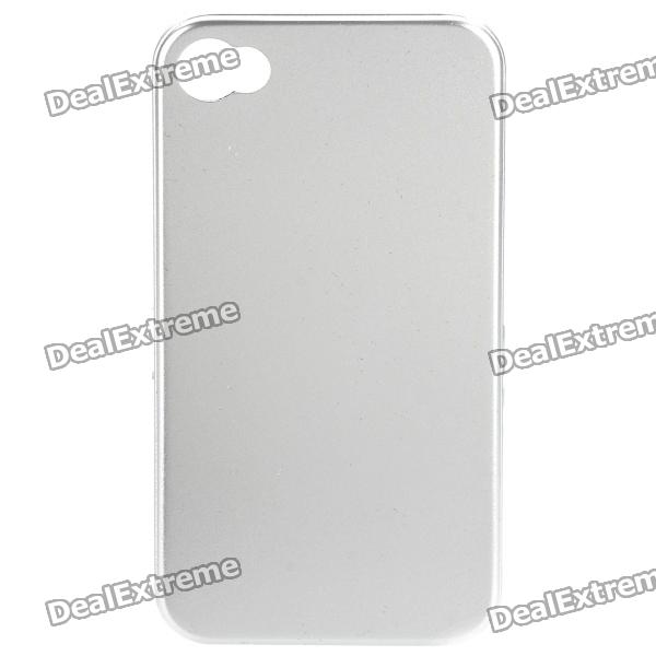 Stylish Protective Aluminum Back Case for Iphone 4S - Silver stylish bubble pattern protective silicone abs back case front frame case for iphone 4 4s