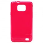 Stylish Protective TPU Back Case Cover for Samsung i9100 - Red