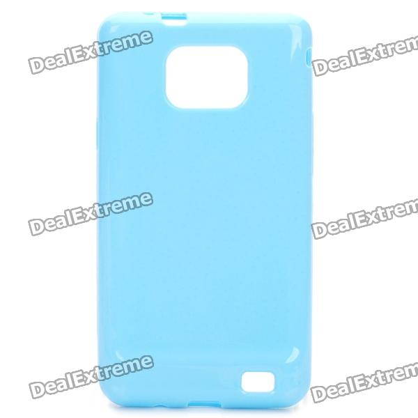 Stylish Protective TPU Back Case Cover for Samsung i9100 - Blue