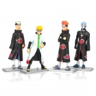 Cute Naruto Anime Figures Display Toys with Base (4-Piece Set)
