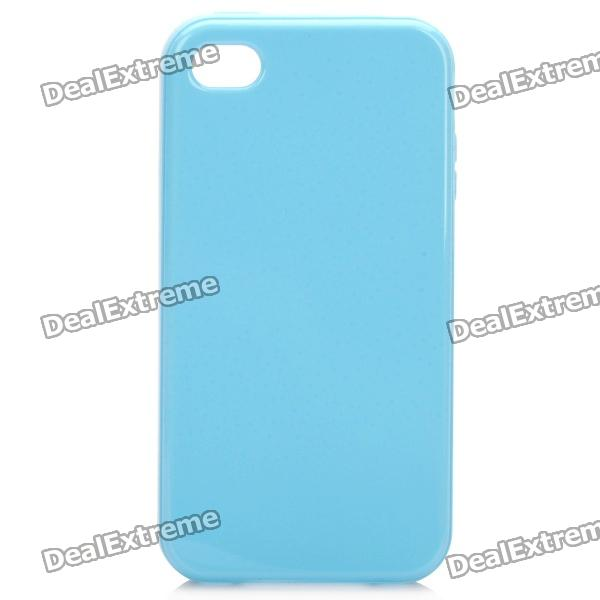 Stylish Protective TPU Back Case Cover for Iphone 4/4S - Blue protective pc tpu back case for iphone 5 w anti dust cover lavender purple