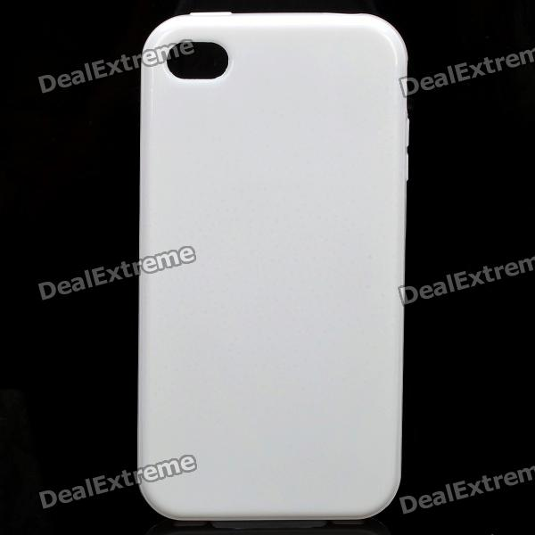 цены Stylish Protective TPU Back Case Cover for Iphone 4/4S - White