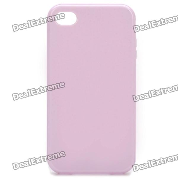Stylish Protective TPU Back Case Cover for Iphone 4/4S - Purple glossy tpu gel back protection case for iphone 7 plus light purple