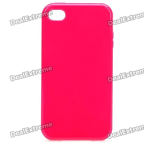 Stylish Protective TPU Back Case Cover for Iphone 4/4S - Red