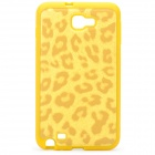 Leopard Style Protective Back Case for Samsung i9220 - Yellow