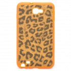 Leopard Style Protective Back Case for Samsung i9220 - Orange