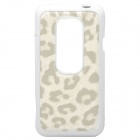 Protective Silicone + Leather Back Case for HTC EVO 3D - White