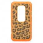 Leopard Style Protective Back Case for HTC EVO 3D - Orange
