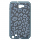 Leopard Style Protective Back Case for Samsung i9220 - Dark Grey