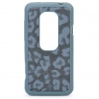 Leopard Style Protective Back Case for HTC EVO 3D - Dark Grey