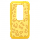 Leopard Style Protective Back Case for HTC EVO 3D - Yellow