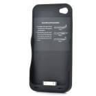 External 2200mAh Emergency Power Battery Case for iPhone 4 / 4S - Black