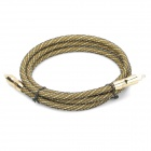 24K Gold-plating Optical Fiber Optic Toslink Audio Cable - Golden (1.5m)