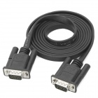 VGA Male to Male Flat Connection Cable - Black (1.5m)