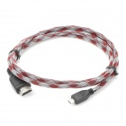 1080P HD HDMI Male to Micro HDMI Male Connection Cable - Red + White (180cm)