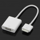 iPad 30-Pin Dock Connector to VGA Female Adapter Cable - White (20cm)