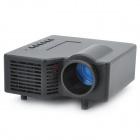 GP-1 18W LCD LED Multimedia Projector w/ 3.5mm Jack / AV-In / USB / TF - Black
