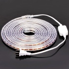 Outdoor Waterproof 24W 320LM/M 3000-3500K 300-LED Warm White Light Strip (DC 220V / 5M-Length)
