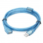 Anti-interference USB 2.0 A Male to Female Connection Cable - Blue (1.5m)