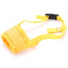 Useful Adjustable Pet Dog Muzzle Set - Yellow (Size-M)
