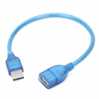 Anti-interference USB A Male to USB A Female Connection Cable - Blue (30cm)