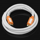 24K Gold-plating 3D Full HD HDMI Male to Male Connection Round Cable - White + Orange (180cm)