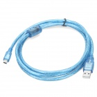 Anti-interference USB A to Mini USB 5-Pin Connection Cable - Blue (1.5m)