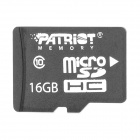 Patriot CLASS 10 Micro SD / TF Card - Black (16GB)