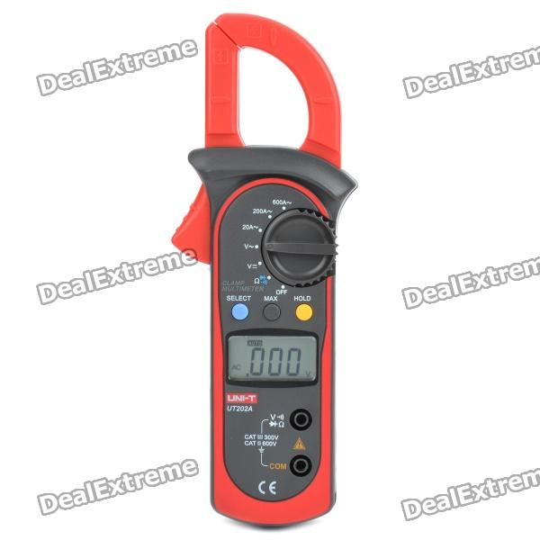 "UNI-T UT202A 1.4"" LCD Digital Clamp Multimeter - Red + Grey (1 x 9V 6F22)"
