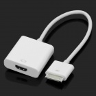 iPad 30-Pin Dock Connector to HDMI Female Adapter Cable - White (20cm)