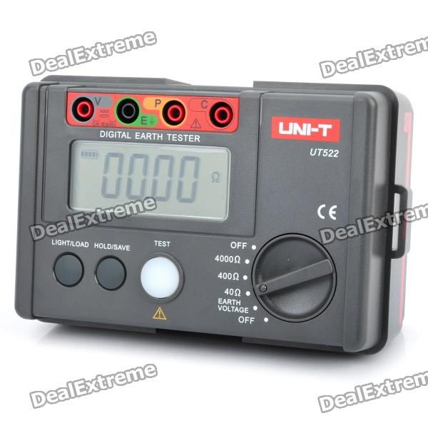 UNI-T UT522 2.7 LCD Digital Earth Ground Resistance Voltage Meter Tester (6 x AA)