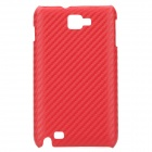 Protective Carbon Fiber Woven Pattern Back Case Cover for Samsung i9220 - Big Red