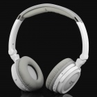Fashion DA602 2.4G Wireless Headset Earphone w/ Microphone - White + Grey
