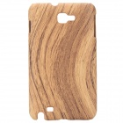 Protective Wood Grain Style Back Case Cover for Samsung i9220/Galaxy/N7000 - Light Brown
