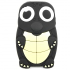 Funny Cartoon Turtle Style Protective Silicone Case for Iphone 4 - Black + Light Yellow