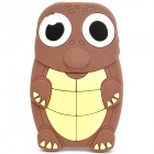 Funny Cartoon Turtle Style Protective Silicone Case for Iphone 4 - Brown + Light Yellow