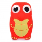 Cute Cartoon Turtle Style Protective Back Case for Iphone 4 - Red + Light Yellow