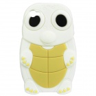 Cute Cartoon Turtle Style Protective Silicone Case for Iphone 4 (White + Light Yellow)
