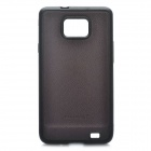 Protective PC Back Case for Samsung i9100 - Black + Coffee