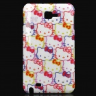 Cute Hello Kitty Style Protective PC Case for Samsung i9220 - Pink + White