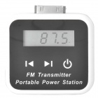 "2-in-1 Solar / USB Powered 1.5"" FM Transmitter + 1200mAh Battery Pack Kit for iPhone 4 / 4S"