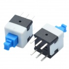 8 x 8mm Self-Locking Switch - Blue + White + Black (20 Piece Pack)