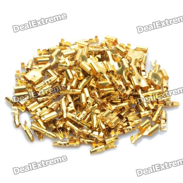 Copper Cable Wire Terminal Connector - Gold (50-Pair Pack) - Free ...
