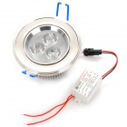 3W 6500K 260-Lumen 3-LED White Light Ceiling Down Lamp w/ Driver (AC 100~245V)