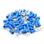 Cable cobre Anel Terminal Connector - azul + prata (4mm / 50 Piece Pack)